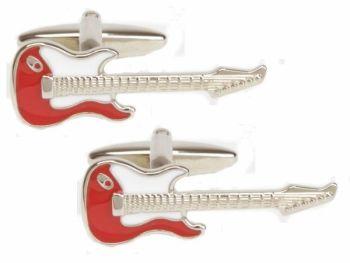 Guitar Cufflinks - Red