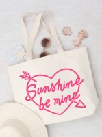 Large Beach Bag - Sunshine Be Mine