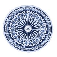 Round Beach Towel - Boho Mandala Print