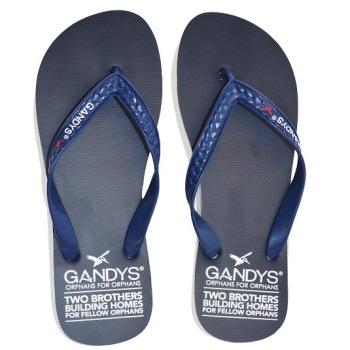 Gandys Flip Flop - Navy - Mens