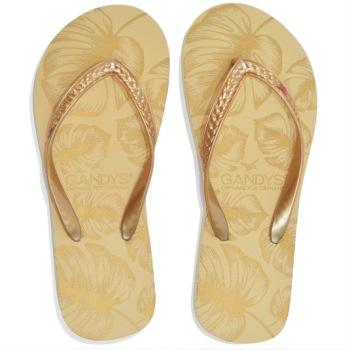 Gandys Flip Flop - Gold Leaf Print