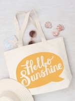 Canvas Beach Bag - Hello Sunshine!