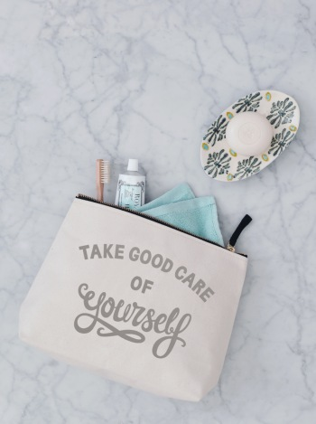 Large Wash Bag - Take Good Care Of Yourself