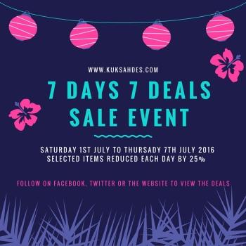 7 deals event poster