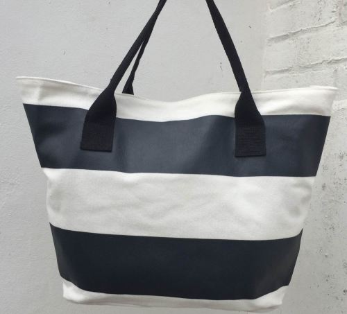 Bondi - Black & White Beach Bag - Beach Bunnies