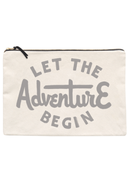 Travel Pouch - Large - Let The Adventure Begin