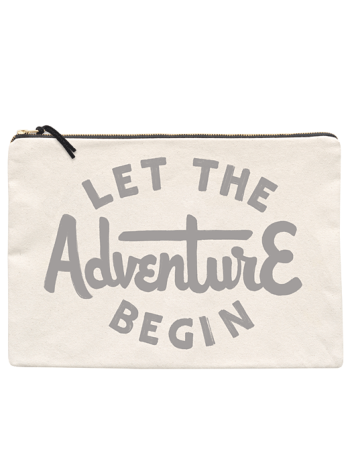 Large Travel Pouch - Let The Adventure Begin