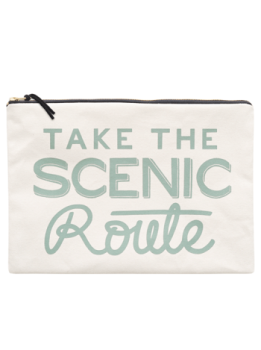 "Travel Pouch - Large - ""Take The Scenic Route"""