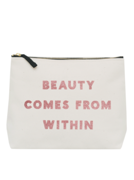 Large Wash Bag - Beauty Comes From Within