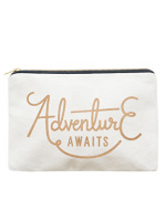 Small Travel Pouch - Adventure Awaits