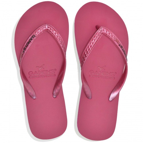 Womens Flip Flops by Gandys - Raspberry