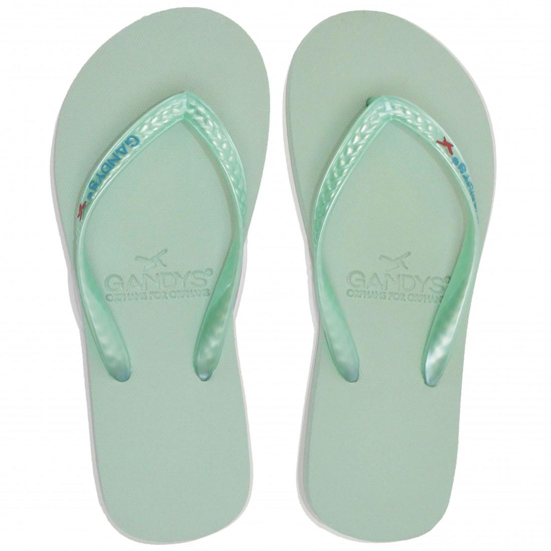 Gandys Flip Flops - Opal/Turquoise