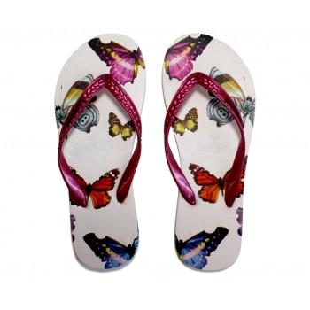 Gandys Flip Flops - Butterfly Print