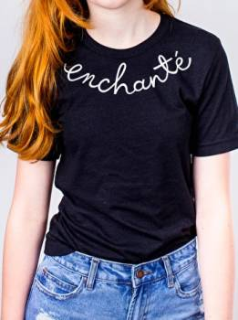 Cotton Tee - 'Enchante'