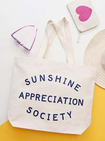 Large Beach Bag - Sunshine Appreciation Society