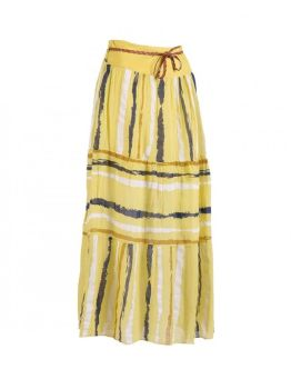 Long Cotton Skirt - Yellow