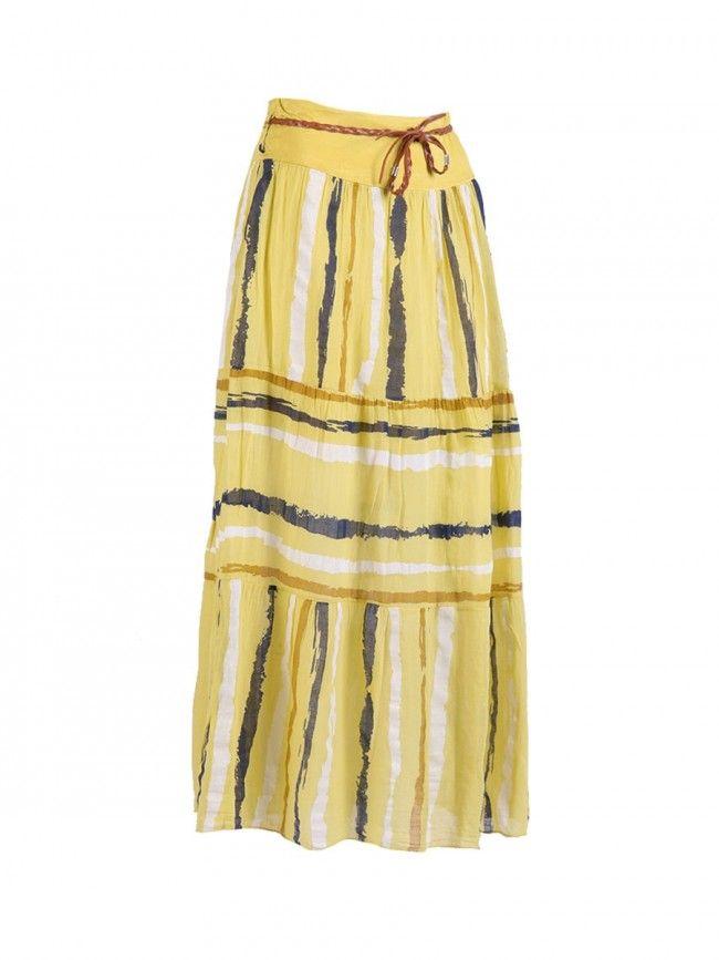Long Cotton Skirt - Yellow