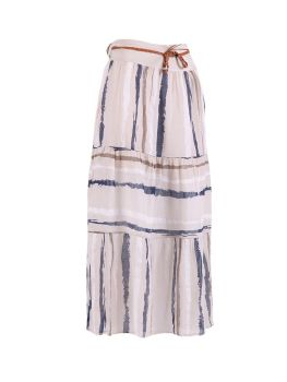 Long Cotton Skirt - Beige