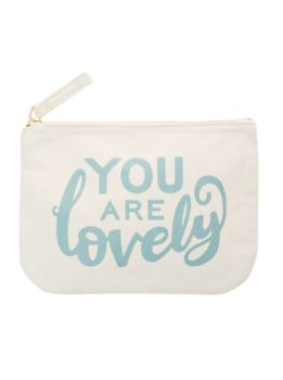 Cotton Make Up Pouch - You Are Lovely