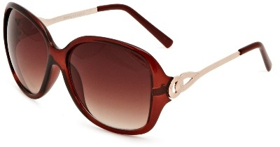 Ladies Oversize Fashion Sunglasses - Brown Tint