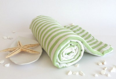 Cotton Hammam Beach Towel - Green