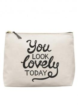 "Large Wash Bag - ""You Look Lovely Today"""