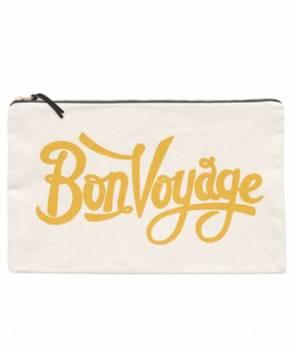 "Travel Pouch - Large - ""Bon Voyage"""