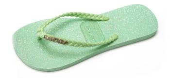 Gandys Flip Flop - Mint Glitter - Womens