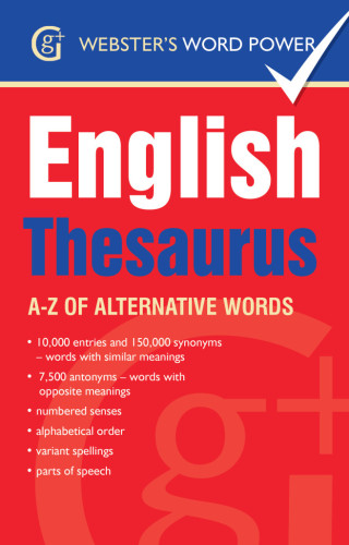 Websters English Thesaurus