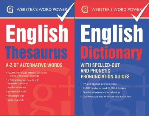 Websters English Dictionary and Thesaurus