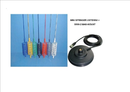 MINI SPRINGER MOBILE CB ANTENNA (choice of colours) INCLUDING MAG-MOUNT