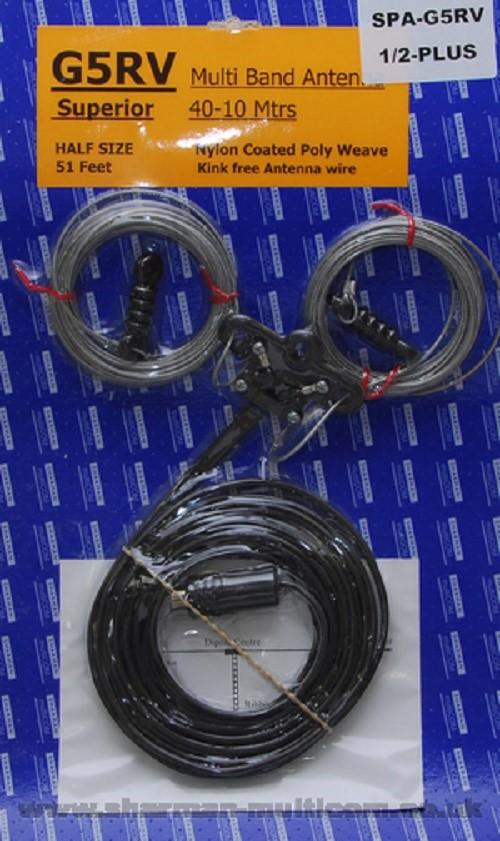 Half Size G5RV Wire Antenna (10-40 Metres) Superior Polyweave