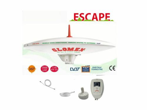 GLOMEX ESCAPE MOBILE OMNIDIRECTIONAL + VERTICAL TV ANTENNA