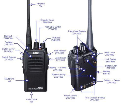 ZFG1004 PTT rubber button for DJ-A11 / A41