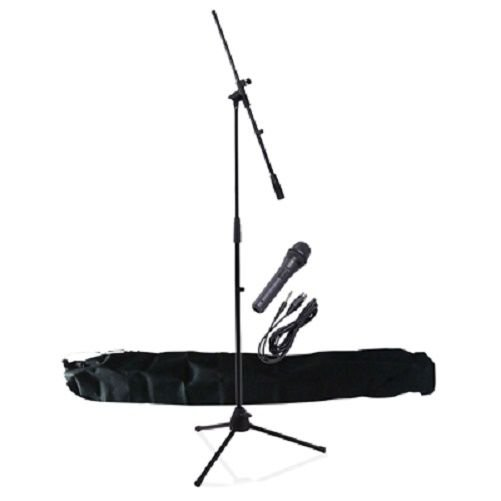 NJS Professional Complete Microphone & Stand Kit with Carry Bag