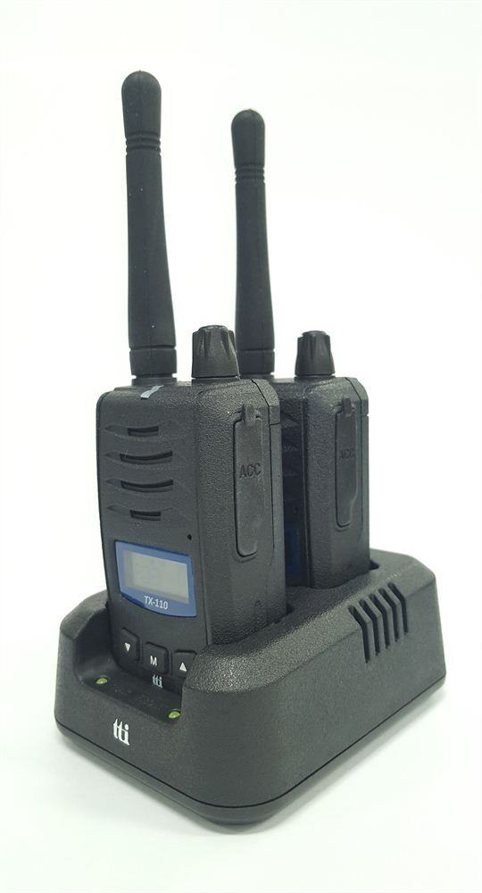 TTI TX110-2 COMPACT PROFESSIONAL PMR446 TRANSCEIVER (TWIN PACK)