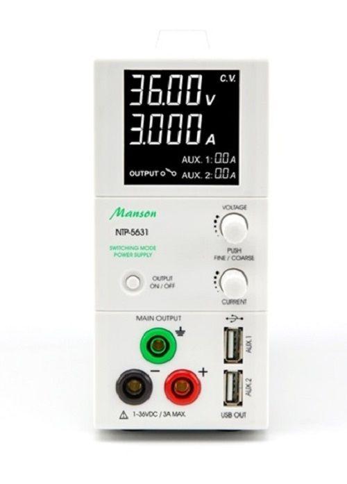 MANSON NTP-5631 laboratory power supply 1-36V DC / 3 amp