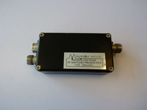 MICROWAVE MODULES LOW NOISE RF SWITCHED PRE-AMP MMA-144V