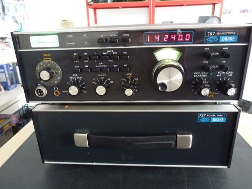 DRAKE TR-7 HF TRANSCEIVER WITH PS-7 POWER SUPPLY