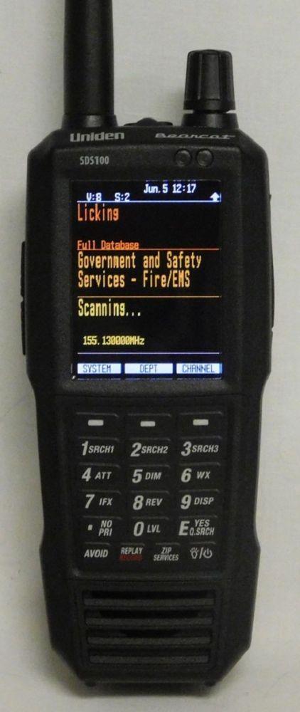 UNIDEN SDS100E DIGTAL SCANNER RECEIVER 25-1300MHz