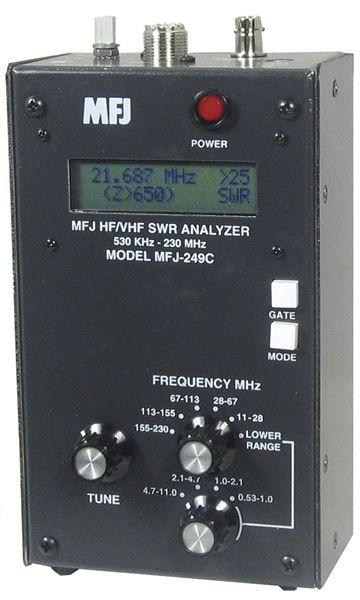 MFJ-249C - HF/VHF/220MHz SWR Analyser ,no meter