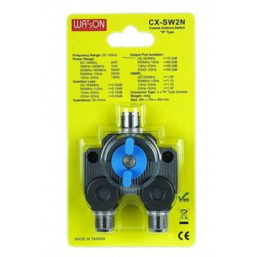 WATSON CX-SW2PL 2 WAY SO239 COAX SWITCH