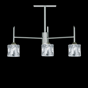 Ice Cube 3 Lamp Ceiling Light Satin Silver 4343-3