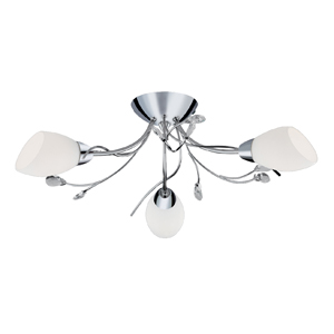 Gardenia 3 Lamp Ceiling Fitting Chrome 1763-3CC