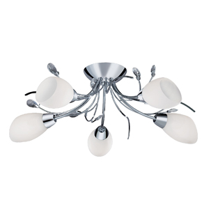Gardenia 5 Lamp Ceiling Fitting Chrome 1765-5CC