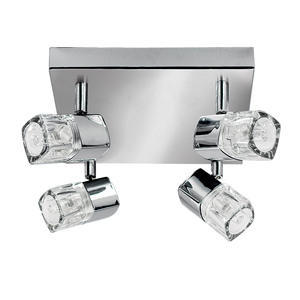 Blocs 4 Lamp Spotlight Chrome 7884CC