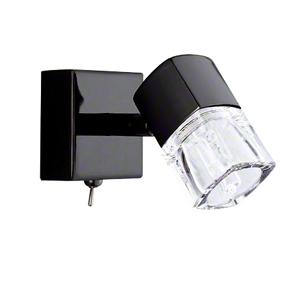 Blocs Single Wall Light Black Chrome 9881BC