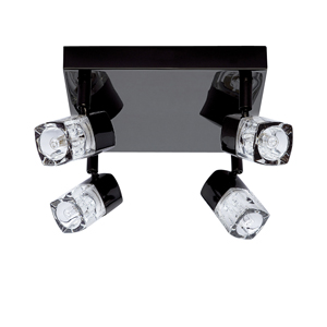 Blocs 4 Lamp Spotlight Black Chrome 7884BC