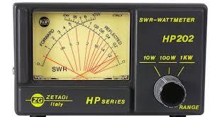 Zetagi HP202 SWR/POWER Meter Cross Needle