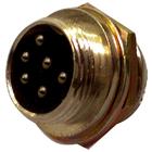 NC-519 6 PIN CHASSIS SOCKET